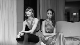"David Downton Draws ""It Girls"" Karlie Kloss and Joan Smalls"