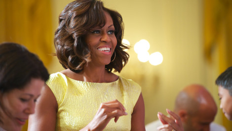 Michelle Obama Greets the Winners