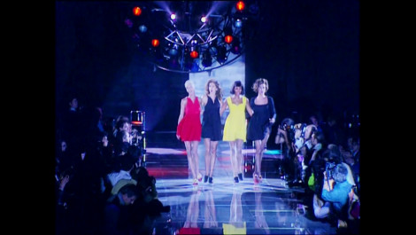 "Linda, Christy, Cindy, and Naomi Sing ""Freedom! '90"" at Versace"