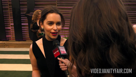 Emilia Clarke at the 2014 V.F. Academy Awards Party