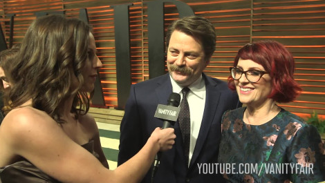 Megan Mullally and Nick Offerman on the One Party They Go To Every Year