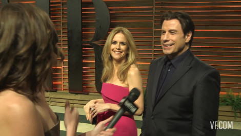 John Travolta Wants to Dance with Bono at the 2014 V.F. Academy Awards Party