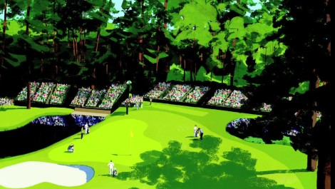 Artist's First Take: The Making Of The 15th Hole at Augusta