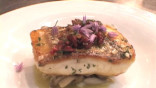 Shea Gallante Makes Black Bass with Razor Clams and Ramps