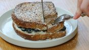 A Simple and Healthy Blueberry-Stuffed French Toast Breakfast