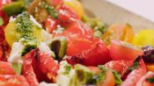 Roasted Red Peppers with Cherry Tomatoes and Ricotta
