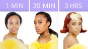 Getting Rihanna's Look in 1 Minute, 30 Minutes, and 3 Hours - Makeup Challenge