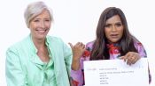 Mindy Kaling & Emma Thompson Answer the Web's Most Searched Questions