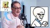 Tom Kenny (SpongeBob) Improvises 5 New Cartoon Voices