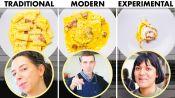 Carla, Chris & Sohla Cook Pasta Carbonara 3 Ways: Traditional, Modern, Experimental