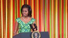 Epicurious @ The White House: The First Lady, Michelle Obama, Speaks @ the Kids' State Dinner