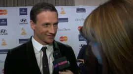 "Ryan Lochte Teaches Us How to Say ""Jeah!"" and More Behind-the-Scenes at the Clive Davis Grammy Party"