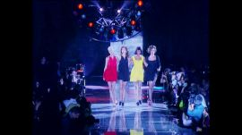 """Linda, Christy, Cindy, and Naomi Sing """"Freedom! '90"""" at Versace"""