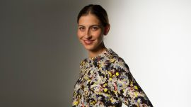 Erdem's Floral-Printed Top and Trousers