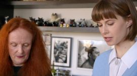 Grace Coddington at Home With Bart
