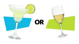 Margarita vs. Glass of Wine