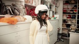 Mindy Kaling Visits the Vogue Closet for a Fitting