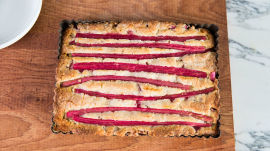 An Inventive Easter Dessert: Rhubarb-Almond Cake