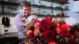 Bronson van Wyck Shows How to Arrange Dahlias
