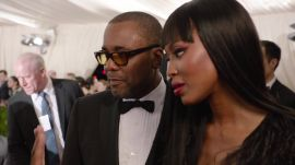 Naomi Campbell and Lee Daniels at the Met Gala 2015