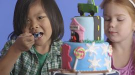 Kids React to Unbelievable Cakes in Slow Motion
