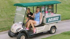 SI Swimsuit Rookie of the Year Ambushes Golfers