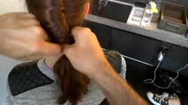 Google Glass Hair How-To: French-Twist Ponytail