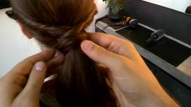 Google Glass Hair How-To: Twisted Ponytail