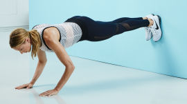 Use a Wall To Tone Your Abs, Butt and Thighs