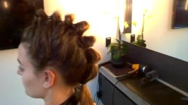 Google Glass Hair How-To: Segmented Ponytail
