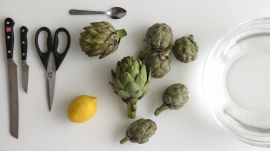 How to Trim Artichokes for Cooking Whole