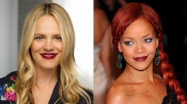 Rihanna's Dark Lip Look