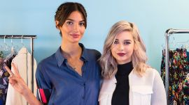 Lily Aldridge Teaches Amanda Steele How to Pose Like a Supermodel