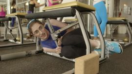 Comedian Emmy Blotnick Reacts to Grueling Chaise Fitness Class