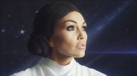 Kim Kardashian as Princess Leia Halloween Makeup Tutorial