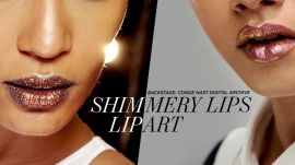 Shimmery Lip Art
