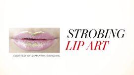 Gilded Lip Art