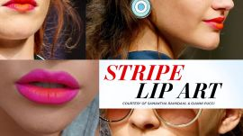Striped Lip Art