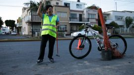Mexican Cyclists Turn Damaged Streets Into a Mini Golf Course