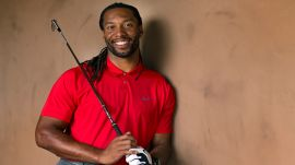 Larry Fitzgerald Takes the 5-Shot Golf Challenge for Charity