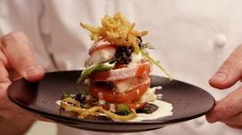 Black Garlic Swordfish with a Potato Puree by a Master Chef