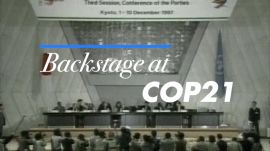 Cameron Russell Goes Backstage at the Paris Climate Talks