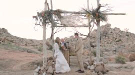One Couple's Desert Wedding in Pioneer Town, California