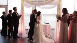 One Couple's Formal Summer Wedding at New York City's Chelsea Piers