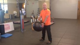 Hip Rotations With A Physio Ball