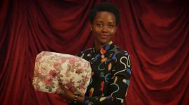 Lupita Nyong'o Performs the Difficult Task of Folding a Fitted Sheet