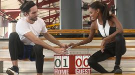 Victoria's Secret Model Jasmine Tookes in the Ultimate Couples Workout Challenge