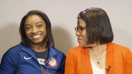 Simone Biles and Her Mom Play a Mother's Day Game