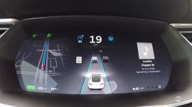 Cruising with Tesla's Autopilot in Houston traffic