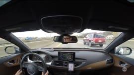 Semi-autonomous drive impressions in an Audi A7 TDI
